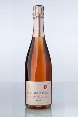 bouteille de Crémant d'Alsace rosé Charles Frey