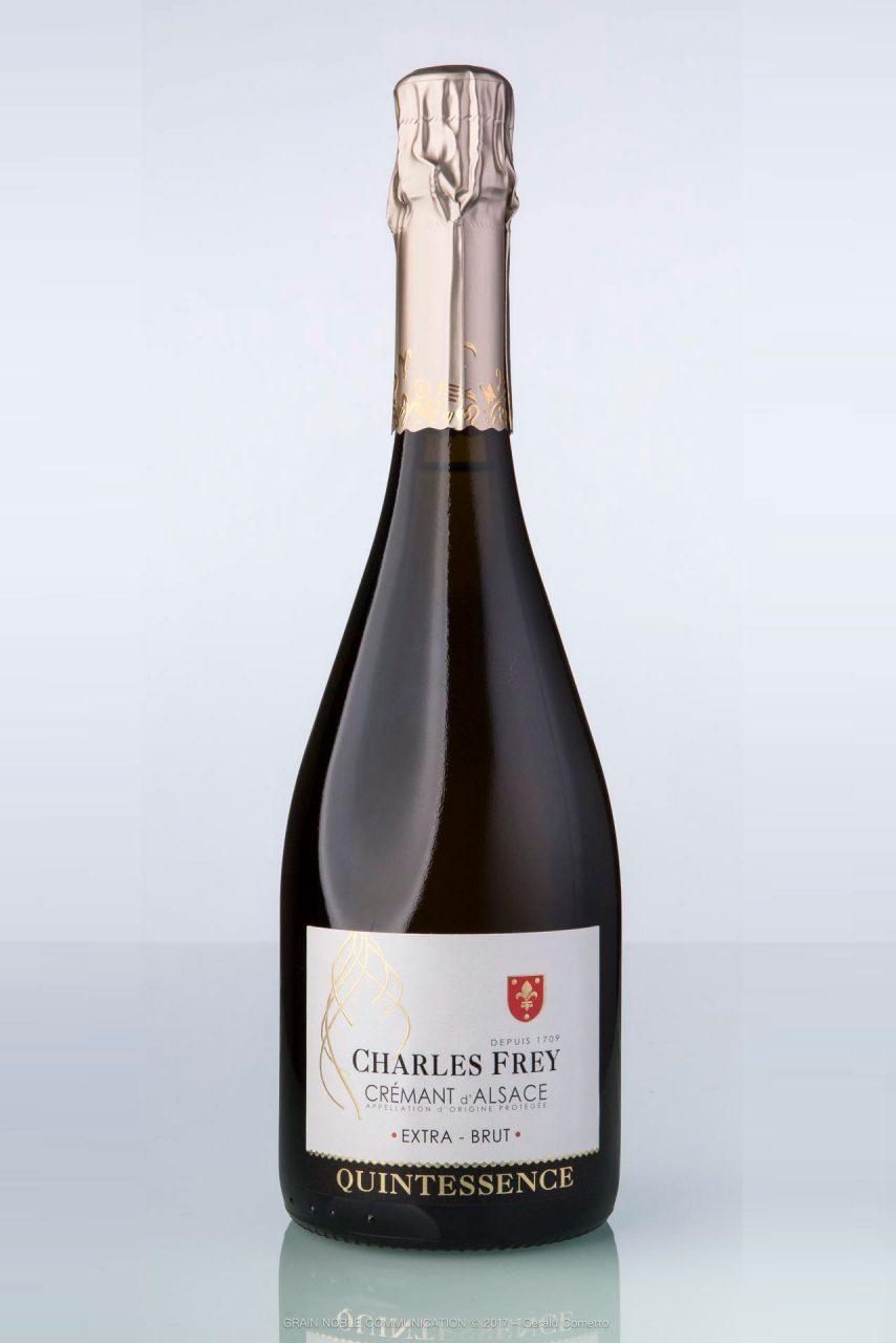 bouteille de vin Crémant d'Alsace Quintessence Charles Frey