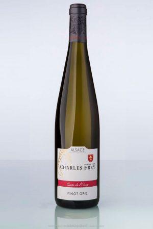 bouteille de vin d'Alsace Pinot gris Charles Frey