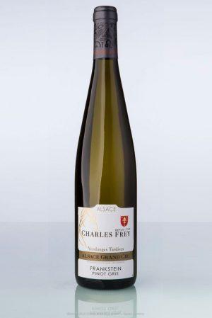 bouteille de vin d'Alsace Pinot gris vendanges tardives Charles Frey