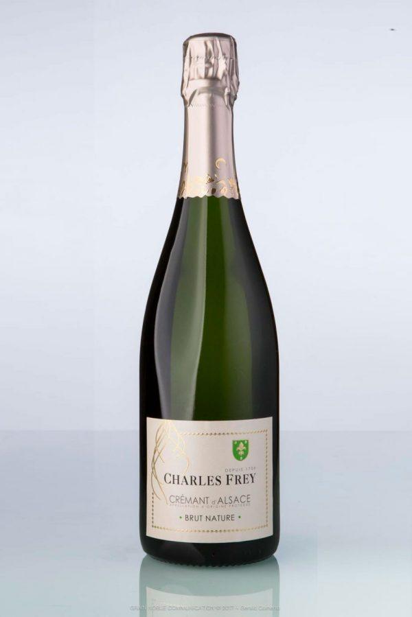 bouteille de Crémant d'Alsace brut nature Charles Frey