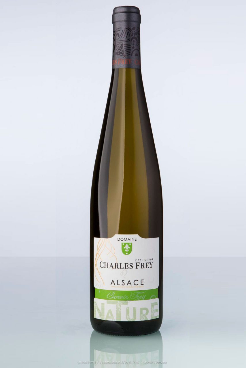 bouteille de vin d'Alsace Riesling NatureCharles Frey