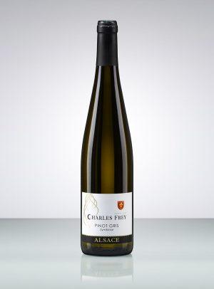 photo d'une bouteille de vin d'Alsace blanc pinot gris